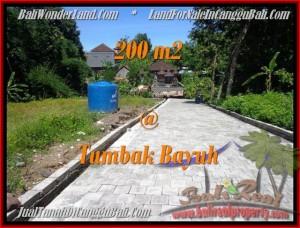 TANAH MURAH  di CANGGU BALI DIJUAL 200 m2  View kebun pemukiman