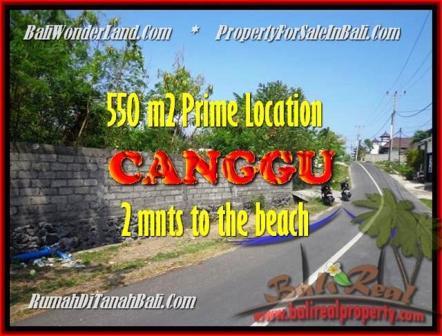 TANAH MURAH DIJUAL di CANGGU 550 m2 di Canggu Batu Bolong