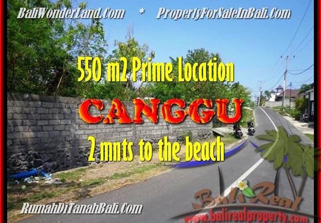 DIJUAL MURAH TANAH di CANGGU 550 m2 di Canggu Batu Bolong