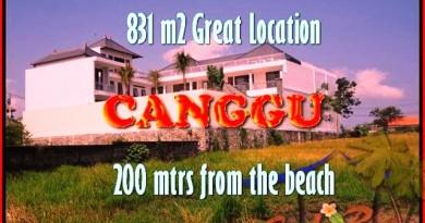DIJUAL MURAH TANAH di CANGGU 831 m2 di Canggu Batu Bolong