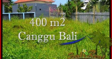 TANAH DIJUAL di CANGGU 400 m2 Lingkungan villa