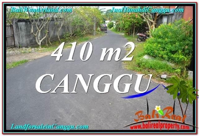 TANAH di CANGGU BALI DIJUAL 410 m2 Lingkungan Villa